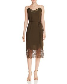 FRENCH CONNECTION - Rose Maria Lace-Trimmed Slip D