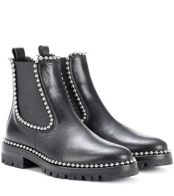 Alexander Wang Embellished leather ankle boots