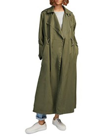 FRENCH CONNECTION - Ereca Draped-Lapel Duster Coat
