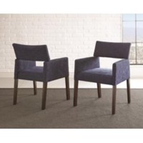 Amalie Side Chair, Navy, Set of 2