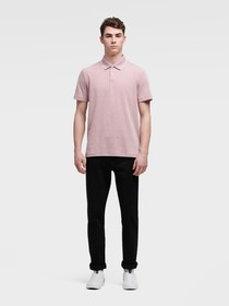 Donna Karan POLO WITH COLLAR TRIM