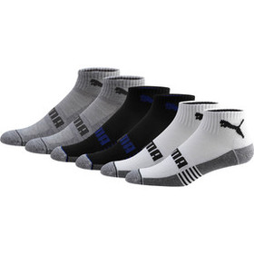 Puma Men's Quarter Crew Socks [6 Pack]