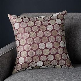 Crate Barrel Tyla Silk Pillow 18""