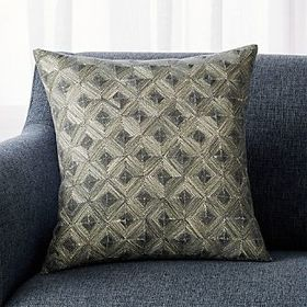 Crate Barrel Joren Diamond Pattern Pillow 18""