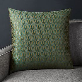 Crate Barrel Rosello Teal Pillow 20""