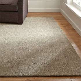 Crate Barrel Quinn Taupe Wool Rug
