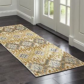 Crate Barrel Nell Desert Wool-Blend Rug Runner