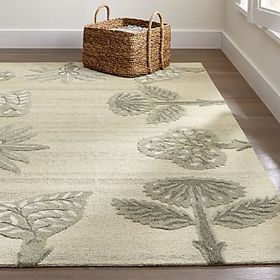 Crate Barrel Fiore Botanical Rug