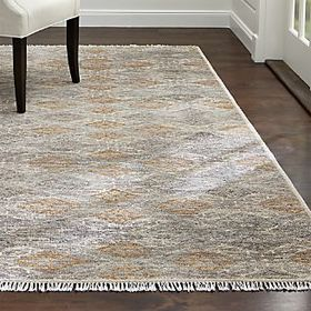 Crate Barrel Romina Diamond Pattern Rug