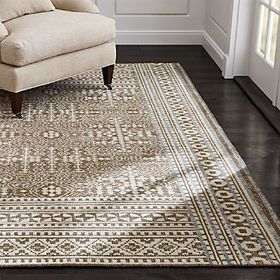 Crate Barrel Tolliver Latte Rug