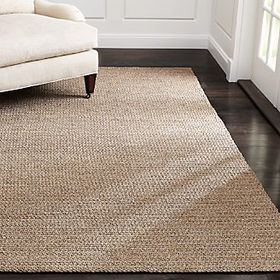Crate Barrel Salome Indoor-Outdoor Sand Chunky Rug