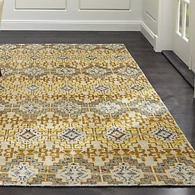 Crate Barrel Nell Desert Wool-Blend Rug