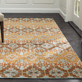 Crate Barrel Nell Oasis Wool-Blend 9'x12' Rug