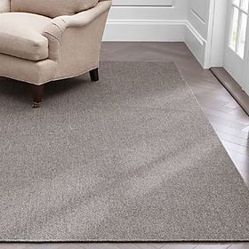Crate Barrel Basket Grey Flatweave Rug