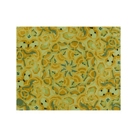 Crate Barrel Cecily Ochre Yellow Wool 6'x9' Rug