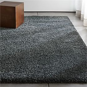 Crate Barrel Memphis Dark Grey Shag Rug