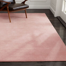 Crate Barrel Baxter Blush Pink Wool Rug 10'x14'