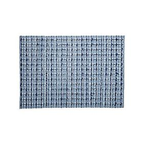 Crate Barrel Blue Check Rug
