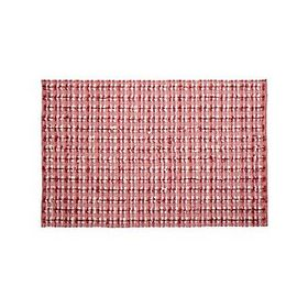 Crate Barrel Pink Check Rug