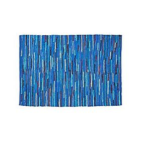 Crate Barrel Basic Blue Rag Rug