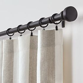Crate Barrel Willis Natural Taupe Curtains
