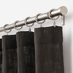 Crate Barrel Lindstrom Black Curtains