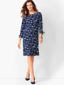 Talbots Crepe Shift Dress - Floral Print