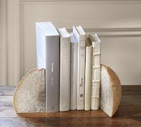 Pottery Barn Geode Bookends, Set of 2
