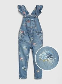 Floral Ruffle Overalls