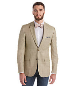 Jos Bank Tailored Fit Windowpane Tropical Blend Sp