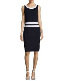 St. John Wool-Blend Sheath Dress~1411379997