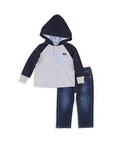 7 For All Mankind - Boys' Hooded Henley Shirt & Sk