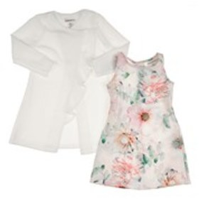 SWEETHEART ROSE Girls Floral Print Mikado Shift Dr