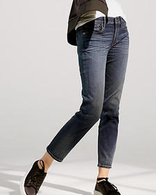 Express mid rise straight ankle jeans