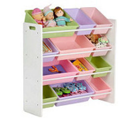 Honey-Can-Do Pastel Colors Sort-and-Store Toy Orga