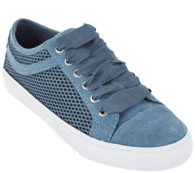 Isaac Mizrahi Live! SOHO Suede Lace-up Sneakers wi