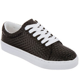 Isaac Mizrahi Live! Woven Fabric Tie Sneakers - A3