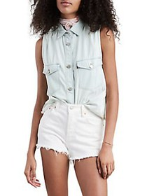Levi's Sleeveless Maddie Denim Shirt FRANCES BLUE