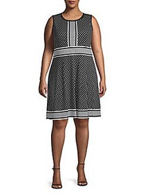 MICHAEL Michael Kors Plus Dotted Fit-&-Flare Dress