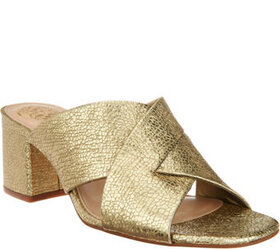 Vince Camuto Leather or Suede Cross Band Mules - S