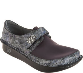 Alegria Dream Fit Leather and Neoprene Slip-ons -