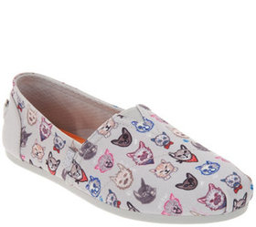 Skechers BOBS Slip-On Shoes - Dapper Cats - A34654