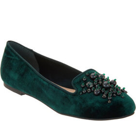 Isaac Mizrahi Live! Velvet Loafers with Ornament D