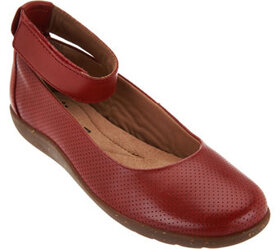 """""""As Is"""" Clarks Leather Perforated Flats - Medora N"""