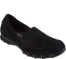 """As Is"" Skechers Relaxed Fit Suede Slip-On Shoes-A"