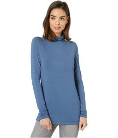 Anne Klein Solid Jersey Long Sleeve Turtleneck