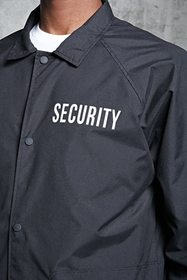Forever21 Security Longline Coach Jacket