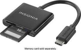 Insignia™ - USB Type-C Memory Card Reader - Black