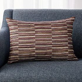 "Crate Barrel Violeta Silk Pillow 22""x15"""