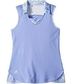 adidas Golf Fashion Print Sleeveless Polo (Big Kid